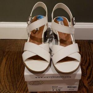 Brand new white sandals